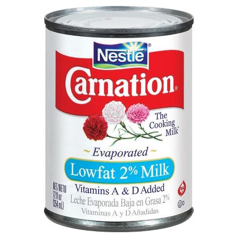 Nestle Carnation Low fat 2% Evaporated Milk - 12oz : Target