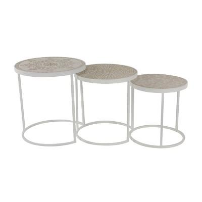 Set of 3 Farmhouse Nesting Tables - Olivia & May