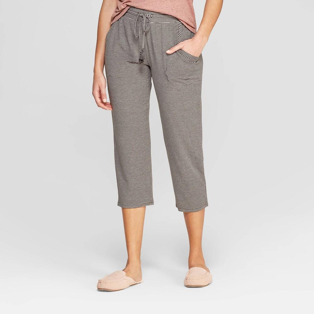 Women's Striped Beautifully Soft Crop Pajama Pants - Stars Above Gray XL, Pink