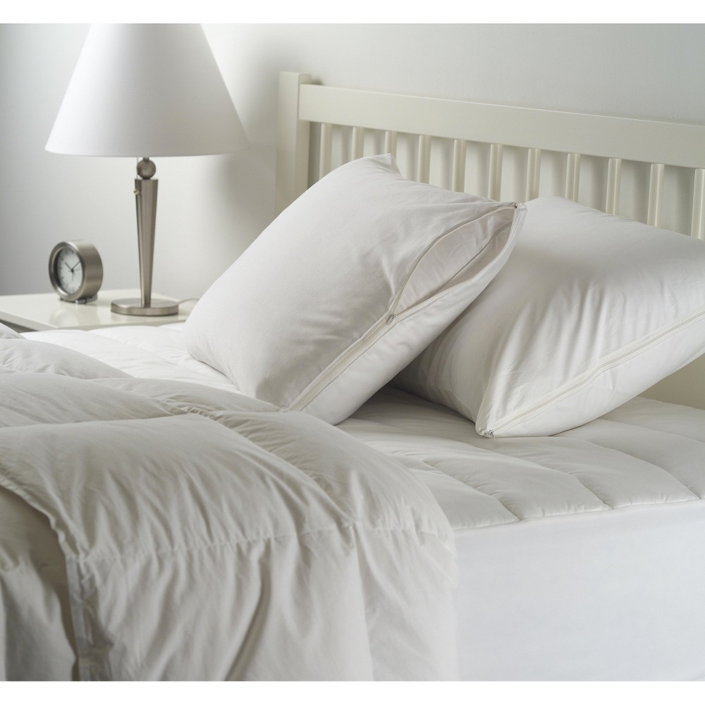 Image of 2 Pack Pillow Protector - White (Standard) - Room Essentials