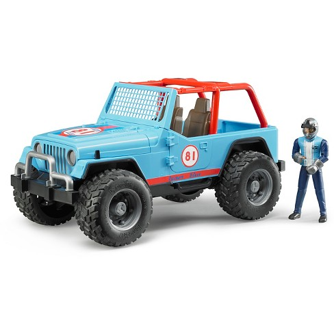 Bruder Jeep Cross Country Racer, Blue with Driver - image 1 of 2