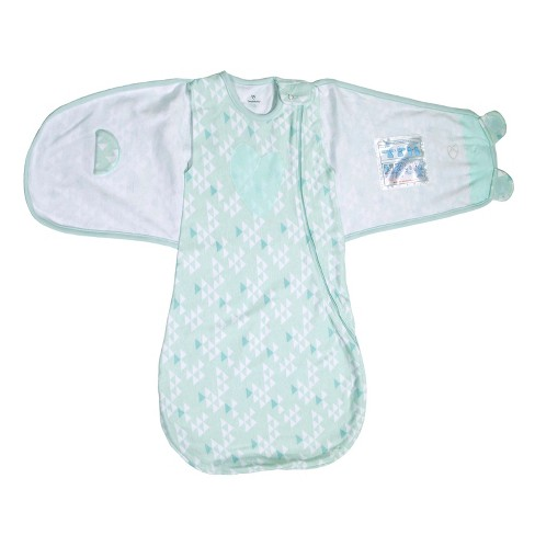 Swaddleme Love Sack Swaddle Wrap Teal Triangles Sm 0 4mo Target