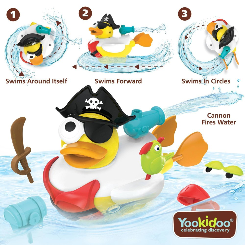Image of Yookidoo Jet Duck - Create a Pirate Bath Toy
