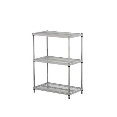 """Design Ideas Meshworks Steel Storage Shelving Unit – 3-Tier Unit 23.6"""" x 13.8"""" x 31.5"""""""