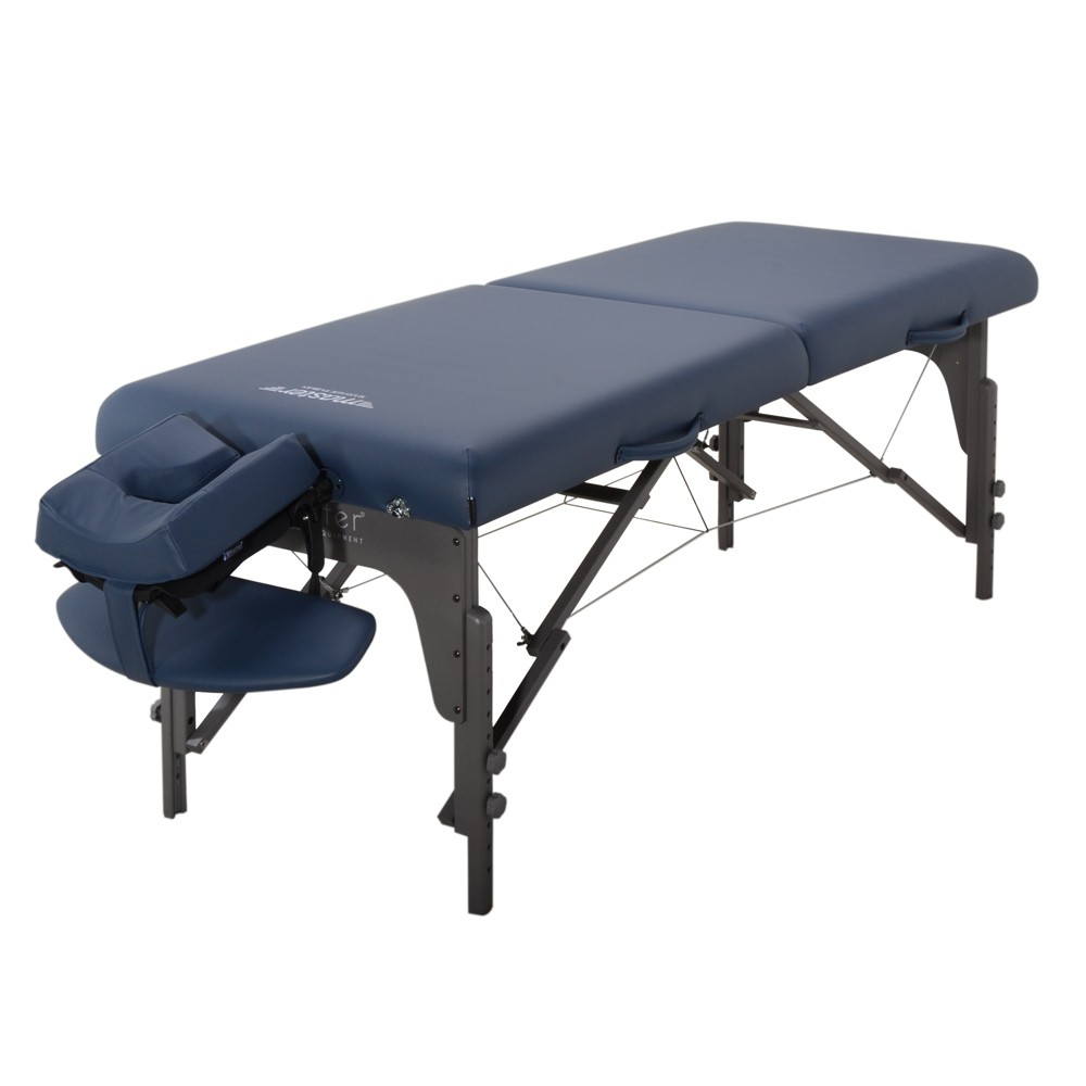 "Image of ""Master Massage Equipment Royal Blue Extra Wide Montclair Pro Memory Foam Portable Table - 31"""""""