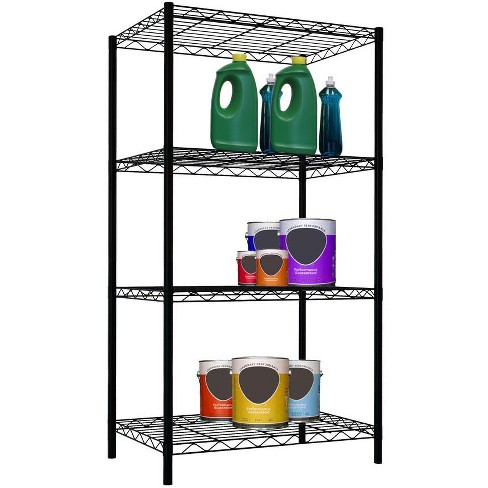 Home Basics 4 Tier Steel Wire Shelf, Black - image 1 of 3