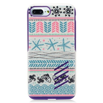 Insten Jumping Fishes Hard Hybrid TPU Case for Apple iPhone - Blue/Pink by Eagle