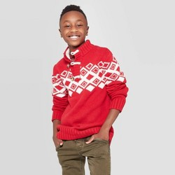 Boys' Long Sleeve Pullover Sweater - Cat & Jack™ Red