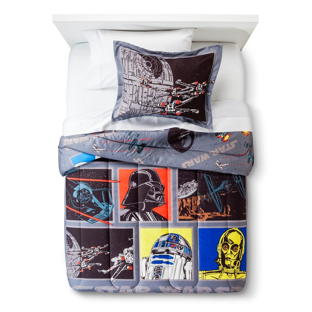Image of Star Wars Classic Death Star Comforter - Gray (Twin/Full)