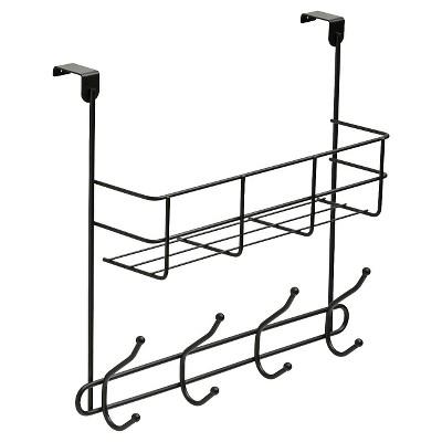 Over The Door Basket Decorative Hook Rack Black - Room Essentials™
