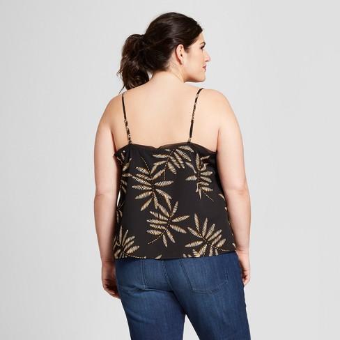 9b80918b4cc Women s Plus Size Floral Tank Top - A New Day™ Black 4X   Target