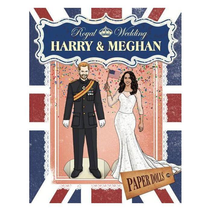 Royal Wedding: Harry & Meghan Paper Dolls - (Paperback) - image 1 of 1