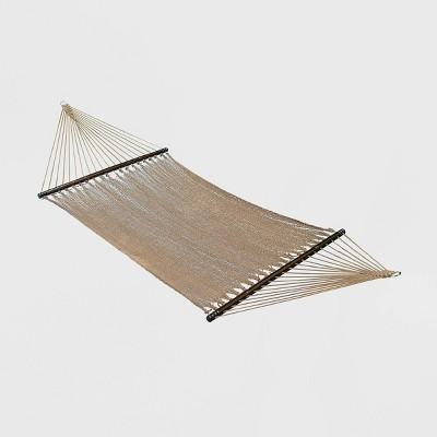Double Caribbean Tight Weave Patio Hammock - Brown - Algoma