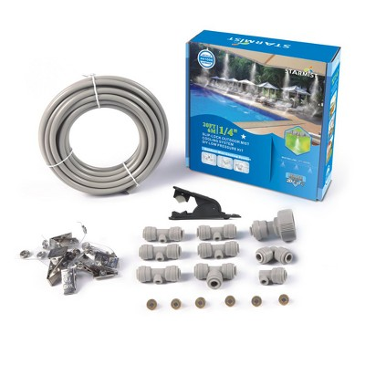"1/4"" Slip Lock Mist Cooling Kit 20' - Gray - Sunneday"