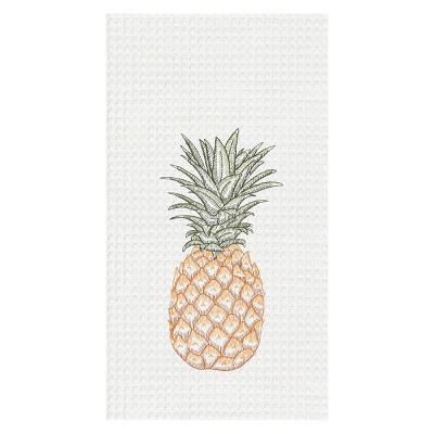 C&F Home Tropical Pineapple Embroidered Cotton Kitchen Towel