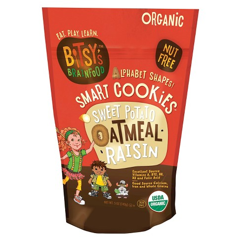 Bitsy's Brain Food Sweet Potato Oatmeal Raisin Smart Cookies - 5oz - image 1 of 3