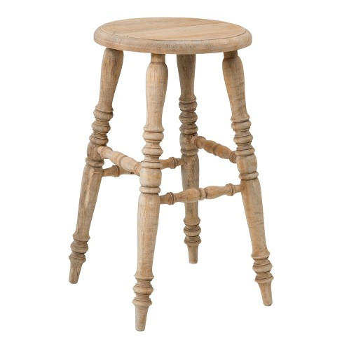 Baylor Rubberwood Counter Stool - Brown - East At Main - image 1 of 4