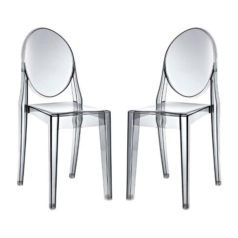 Set of 2 Casper Dining Chairs Smoke - Modway - image 1 of 4