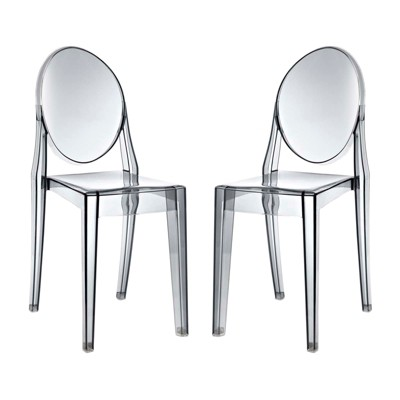 Attrayant Casper Dining Chairs Set Of 2 Smoke   Modway