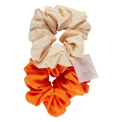 scunci Collection Jumbo Scrunchie - Orange - 2pk