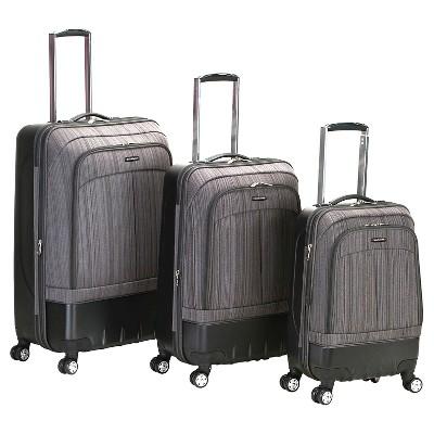 Rockland Milan 3pc Hybrid Eva ABS Luggage Set - Brown