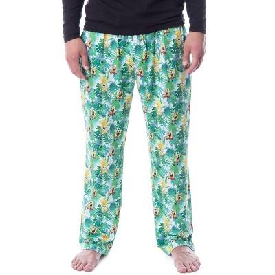 Nickelodeon Mens' SpongeBob SquarePants Tropical Delight Lounge Pajama Pants