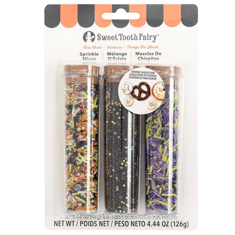 Image of Sweet Tooth Fairy 4.44oz Sprinkles - Black, Purple Green Black