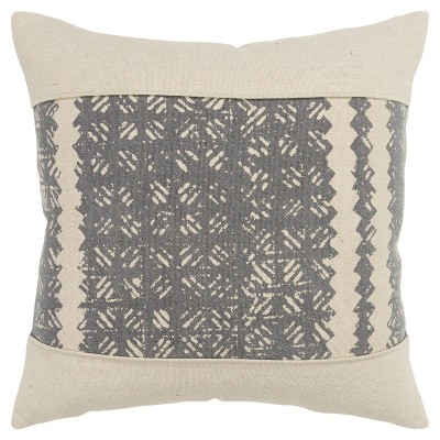 """20""""x20"""" Color Block Polyester Filled Pillow Gray - Donny Osmond Home"""