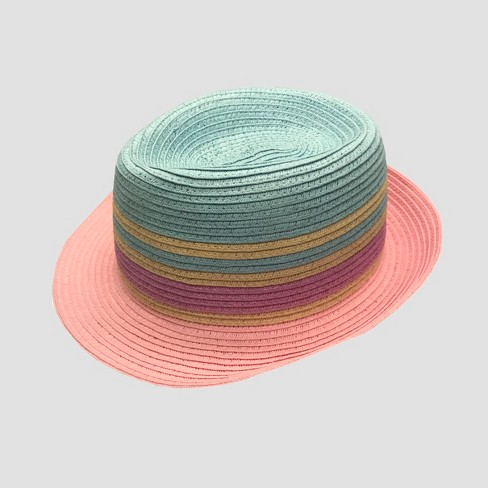Toddler Girls' Striped Fedora - Cat & Jack™ 2T-5T - image 1 of 2