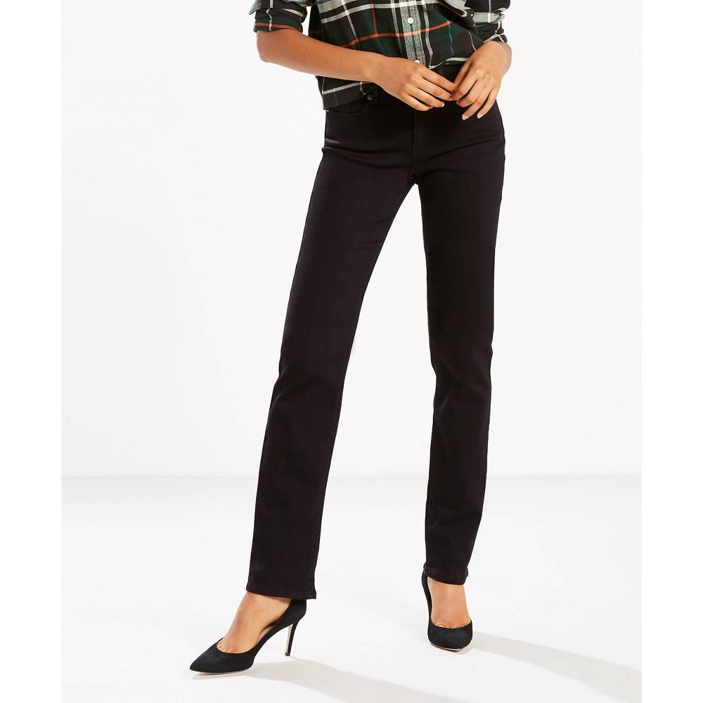 Levi 39 S 174 Women 39 S Mid Rise Classic Straight Fit Jeans Soft Black 2