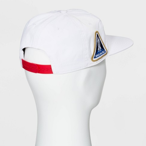 9374e4cc4 Men's NASA Flat Brim Baseball Hat - White One Size : Target