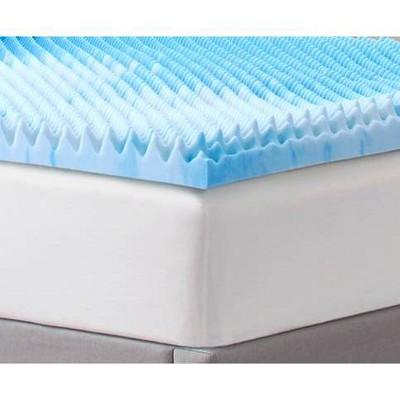 "2"" Reversible Memory Foam Mattress Topper - Comfort Revolution"