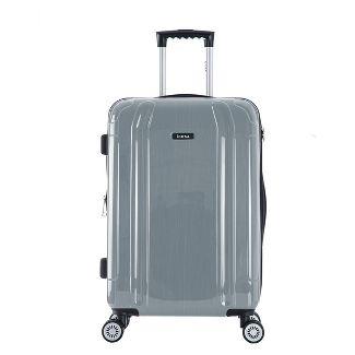 "InUSA SouthWorld 23"" Hardside Spinner Suitcase - Silver Brush"