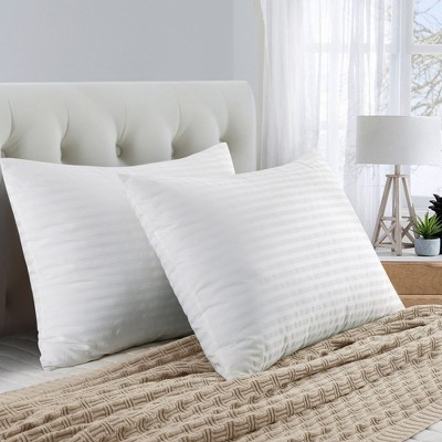 Peace Nest Bed Pillows with Stripe Pattern Set of 2