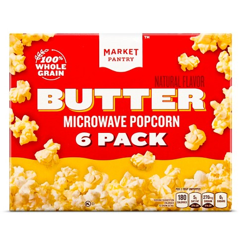 Butter Microwave Popcorn - 6ct - Market Pantry™ - image 1 of 1