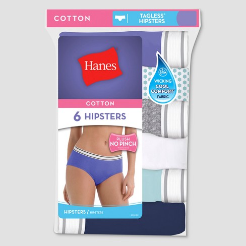 Hanes® Women's Cotton 6pk PP41AS Hipster briefs - Assorted - image 1 of 4