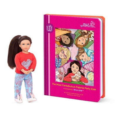 "Our Generation Read & Play Set - 6"" Mini Doll Willow with Storybook"