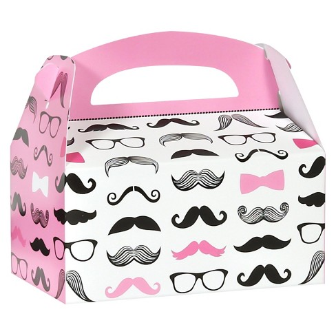 8 ct Pink Mustache Favor Boxes - image 1 of 1