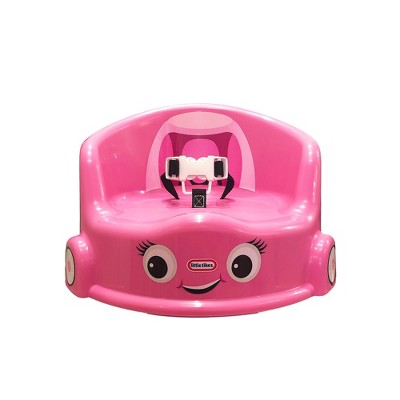 Little Tikes 15-Inch Cozy Coupe Car Secure Kids Plastic Table Chair Booster Seat with 3-Point Safety Harness and 2 Fastening Straps, Pink