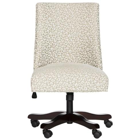 Scarlet Desk Chair Gray - Safavieh - image 1 of 8