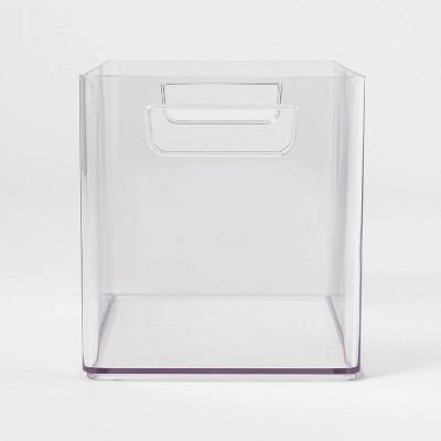 Large Bathroom Organizer Bin with Handles Clear - Made By Design™