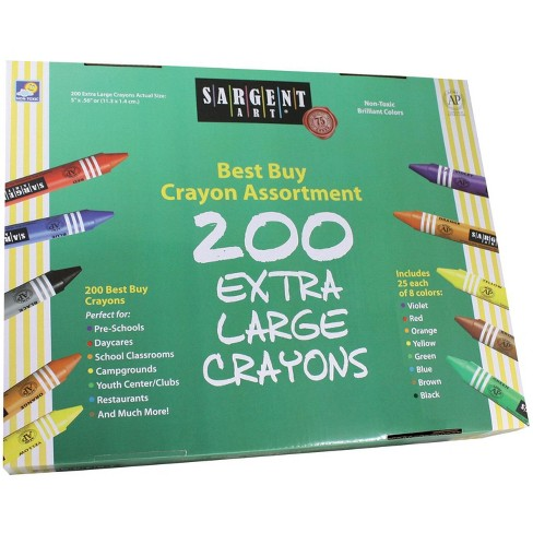 Sargent Art Jumbo Non-Toxic Crayon Set, Assorted Color, set of 200 - image 1 of 1
