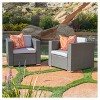 Murano Set of 2 Wicker Patio Club Chairs With Cushions -<br> Christopher Knight Home - image 2 of 4