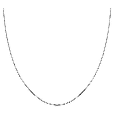 "Women's Box Chain in Sterling Silver - Gray (30"")"