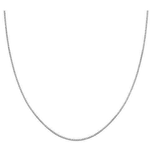 "Women's Box Chain in Sterling Silver - Gray (30"") - image 1 of 1"