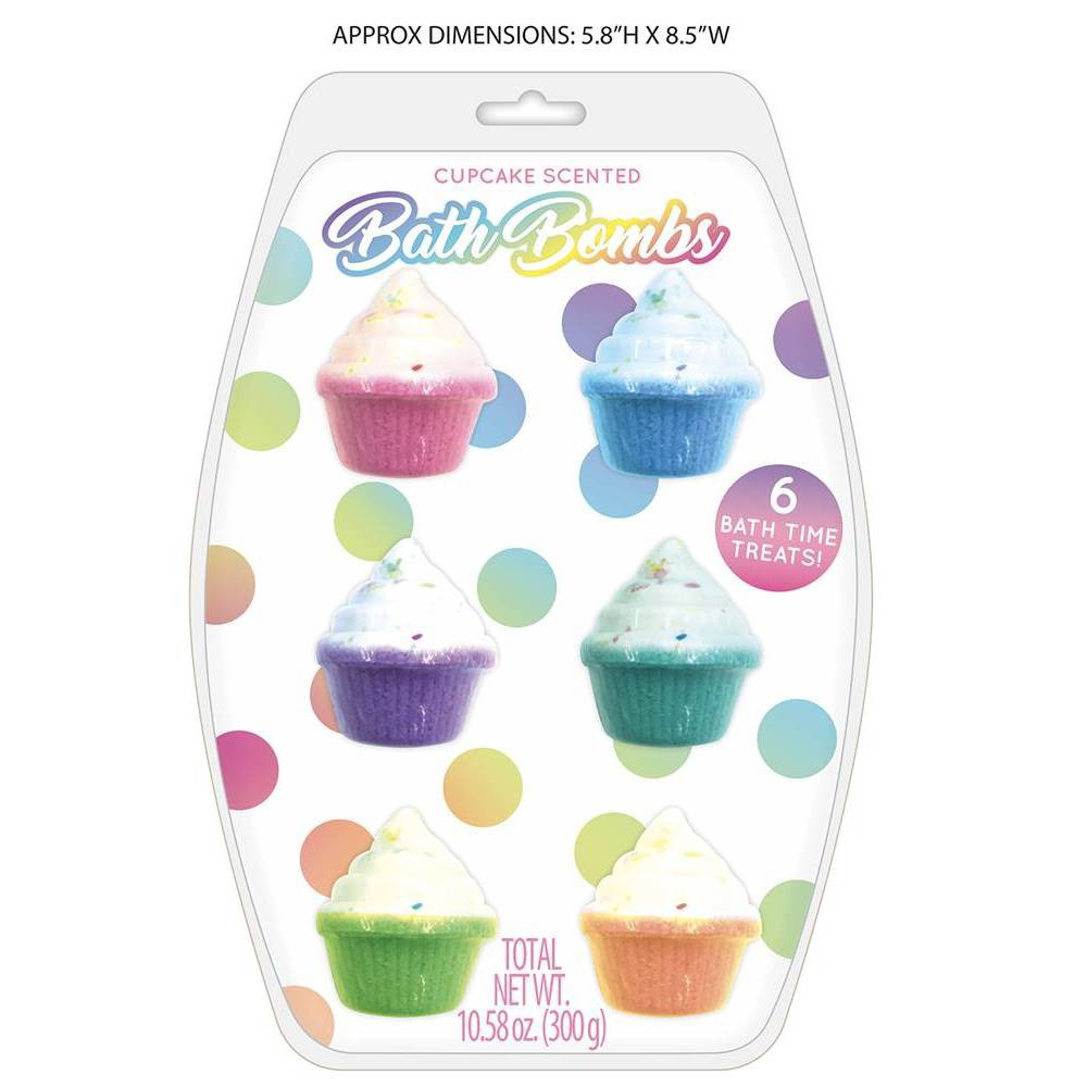 Image of 6pk Scented Cupcake Bath Bomb