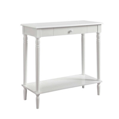 French Country Hall Table with Drawer/Shelf White - Breighton Home