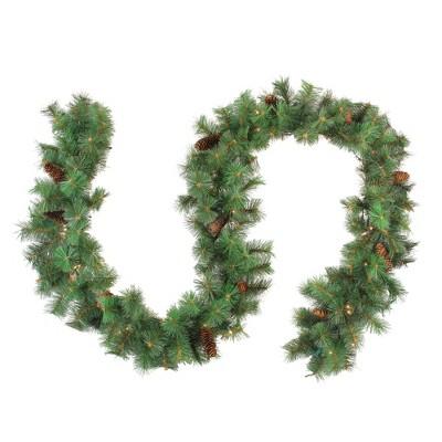 "Northlight 9' x 12"" Pre-Lit Royal Oregon Pine Artificial Christmas Garland - Clear Lights"