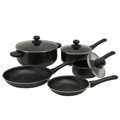 8 Piece Non-stick Aluminum Cook Set - Black - Room Essentials™