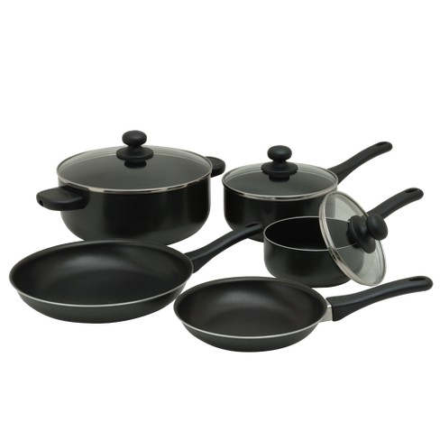 8pc Nonstick Aluminum Cookware Set Black - Room Essentials™ - image 1 of 1